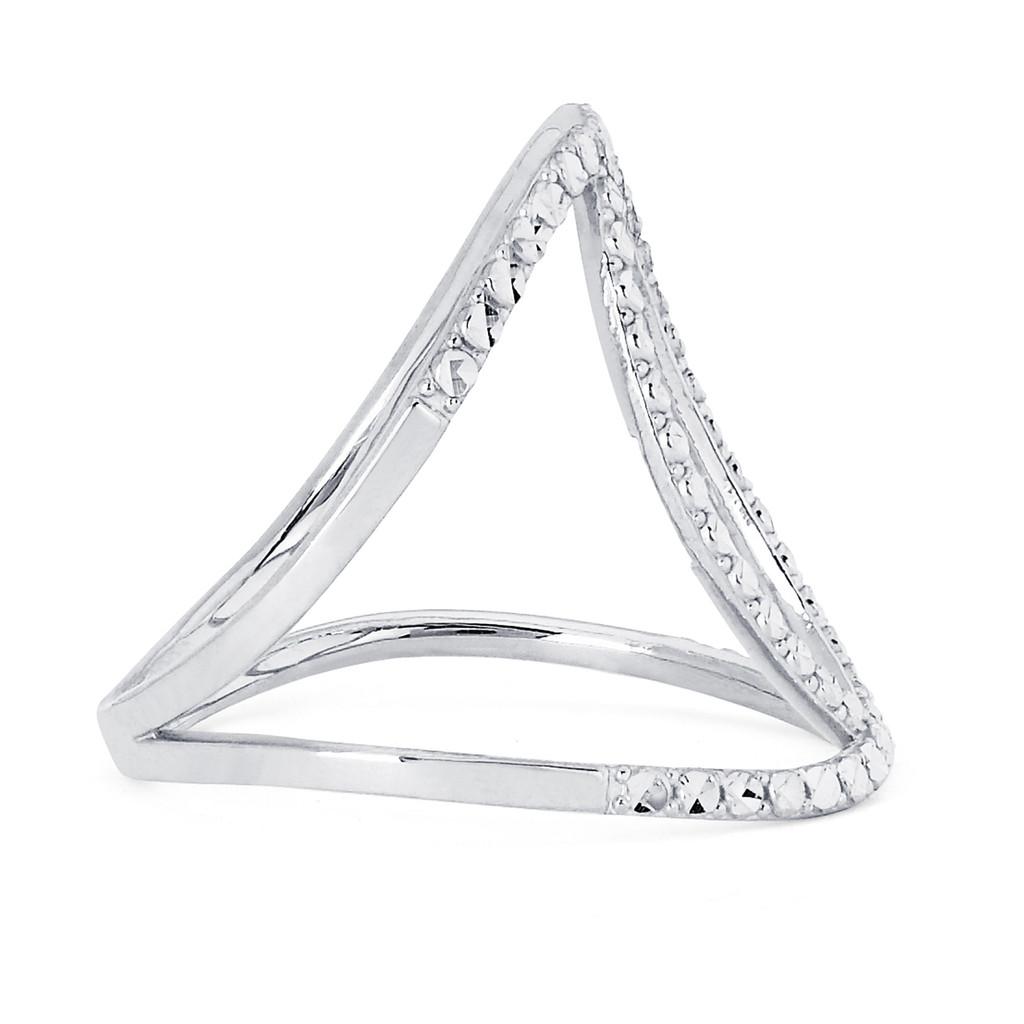 14KT White Gold Diamond Cut Fancy Ring - RG102DCW