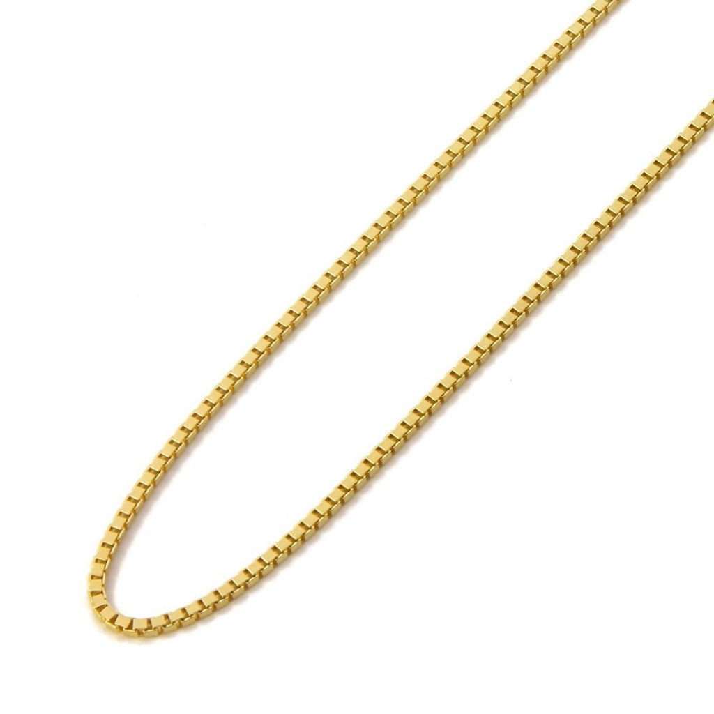 14KT Yellow Gold Box Chain with Lobster Lock