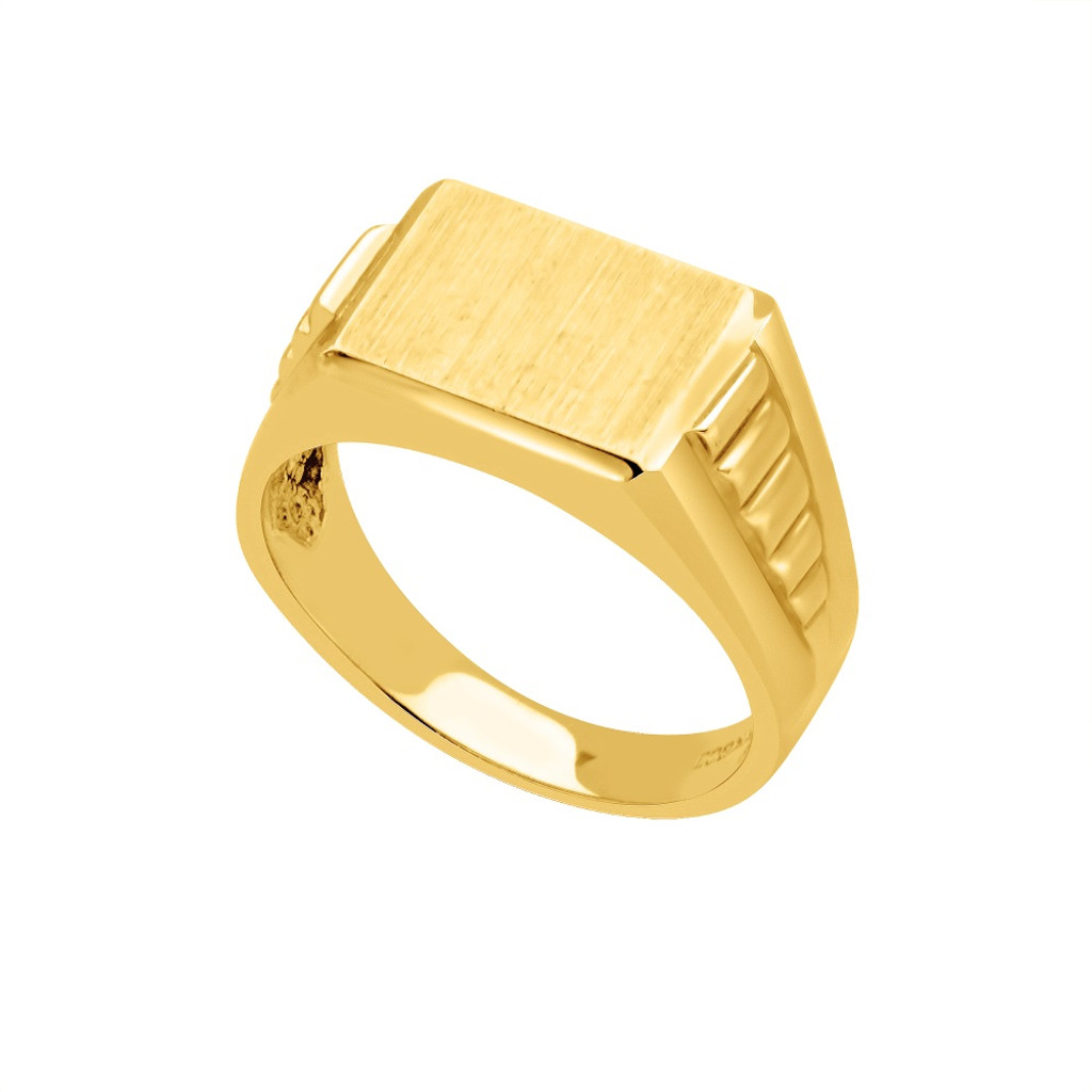 14KT Yellow Gold Signet Ring - SG13