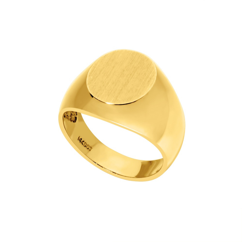 14kt Yellow Gold Signet Ring - SG10