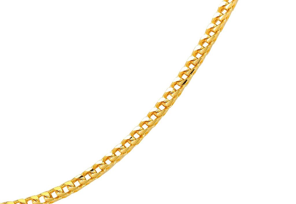 14KT Yellow Gold Diamond Cut Franco Chain