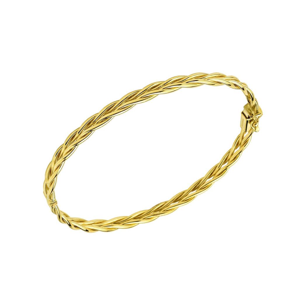 14Kt Yellow Gold Braided Bangle.