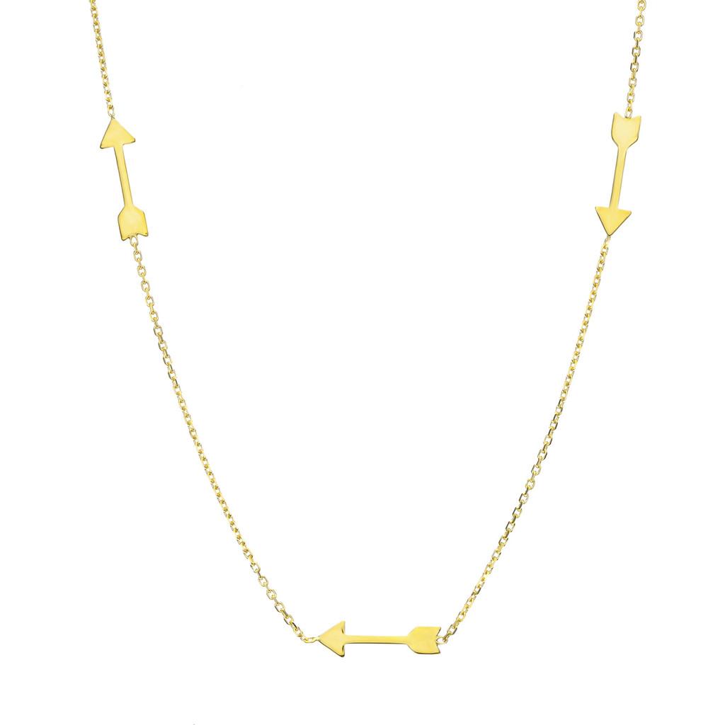 14KT  Yellow Arrow Necklace