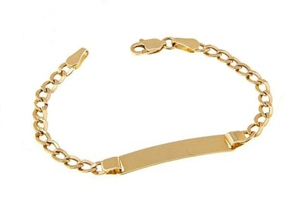 14KT Yellow Gold childs id bracelet-BR1003-6
