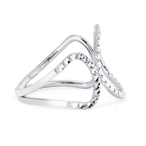 14KT White Gold Diamond Cut Fancy Ring - RG108DCW
