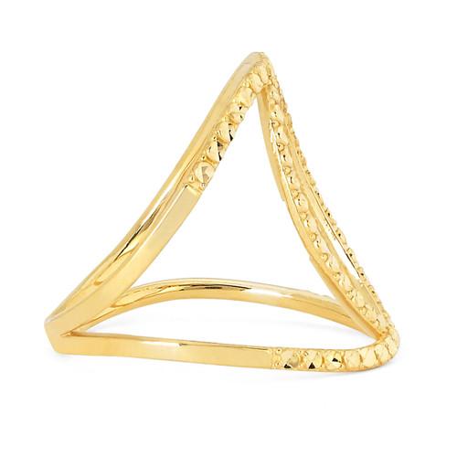 14KT Yellow Gold Diamond Cut Fancy Ring - RG102DCY
