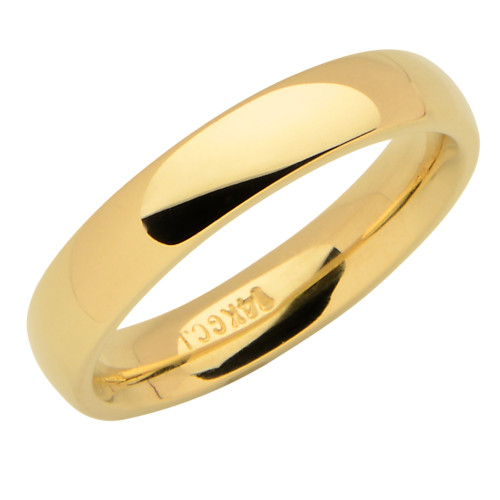 14KT Yellow Gold 4MM Wedding Band