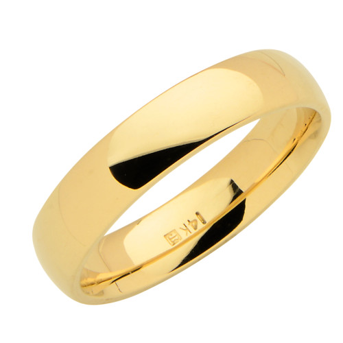 14KT Yellow Gold 5MM Wedding Band