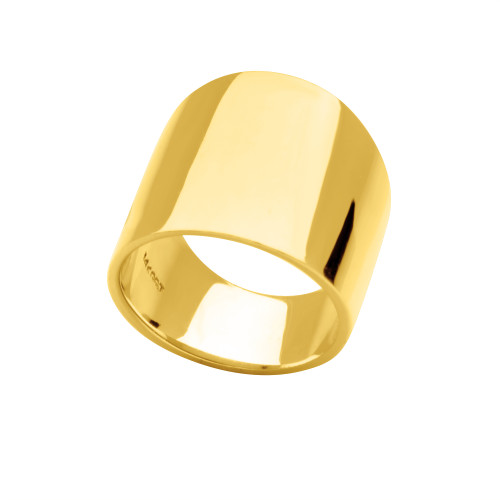 14KT Yellow Gold Cigar Band