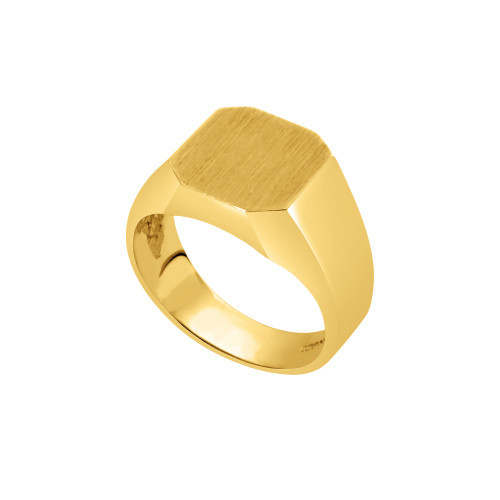 14KT Yellow Gold Signet Ring - SG16