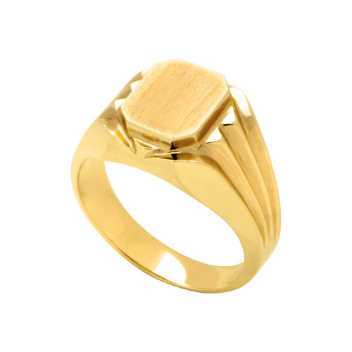 14KT Yellow Gold Signet Ring - SG006
