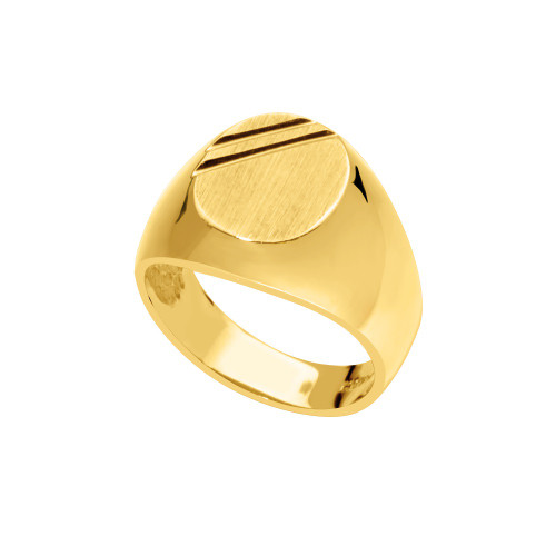14KT Yellow Gold Signet Ring - SG17