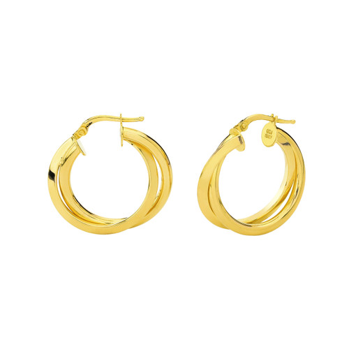 14KT  Yellow Twisted Hoops