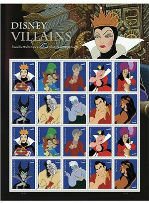 2017 49c Disney Villains, Sleeping Beauty, Sheet of 20 Scott 5213-22 Mint GEM NH