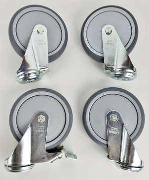 "BLICKLE 5"" CASTER SET of 4 Swivel Double Ball Bearing Hi Quality PU NEW!"
