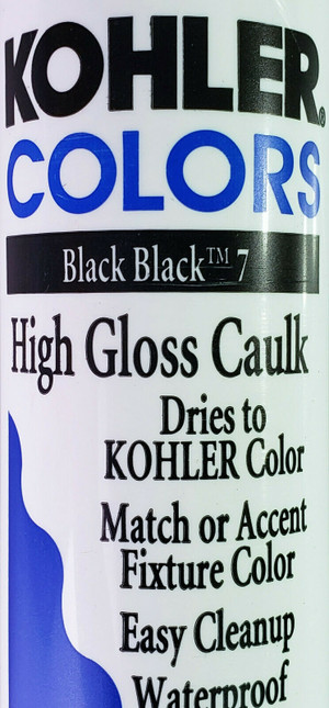 KOHLER COLORS CAULK Black Black 7 High Gloss, Matches Kohler Fixture Color RARE!