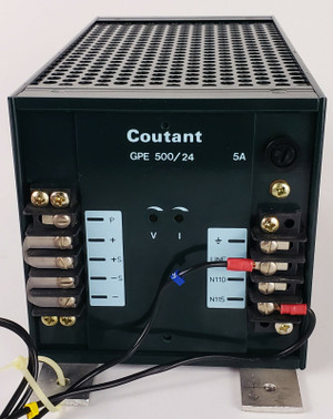 COUTANT LAMBDA GPE500/24/28 POWER SUPPLY P/N A22700 I/P 110/115VAC O/P 24VDC
