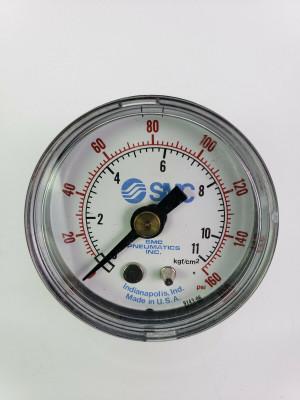 "SMC Pneumatics Pressure Gauge, 0-160 PSI, 42mm Diameter 1/8"" NPT, NEW!"