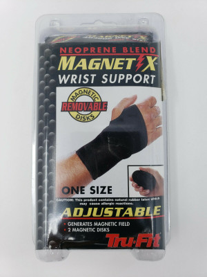 NEW TRU-FIT Neoprene Blend MAGNET X Wrist Support 483202 OSFA Adjustable Closure