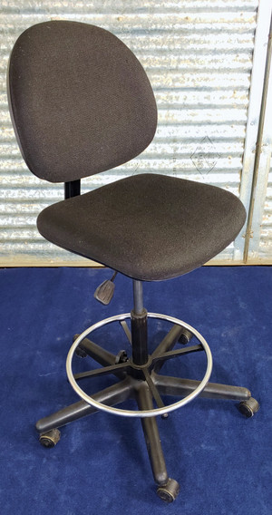 """BEVCO Drafting Chair 21-28""""H, 27""""Base, Foot Ring, Casters, Safe Pickup"""