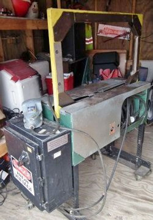 "CARTON STRAPPING MACHINE, SIGNODE MCD 700, 3/8"" plastic"