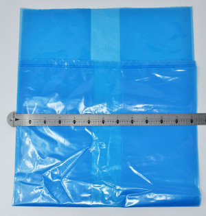 """BLUE POLY PLASTIC BAGS 12 X 10 X 24"""" 1.5 Mil Gusseted 500 per Box 0.00150 NICE!"""