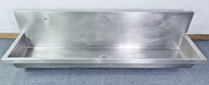 """ELKAY COMMERCIAL STAINLESS STEEL Hand Wash SINK, 72"""" LONG  EWMA72203 Gorgeous!"""