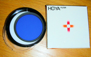 HOYA BLUE 49MM 80A Glass Filter, Used in original Box and Case, Excellent condit