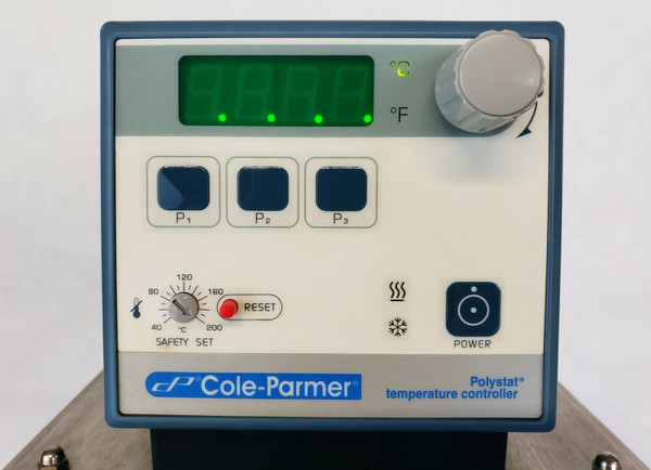 Cole-Parmer 1160S Polystat 6L Chiller Heating Circulating Bath Digital 12108-10