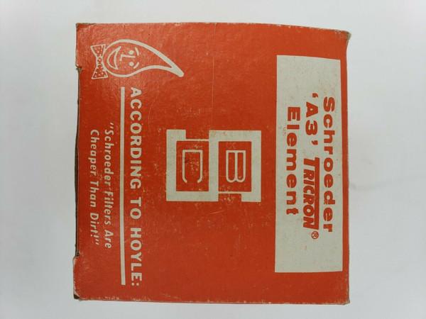 Schroeder Tricon A3 Hydraulic Return Filter Element Cartridge #016B24, New