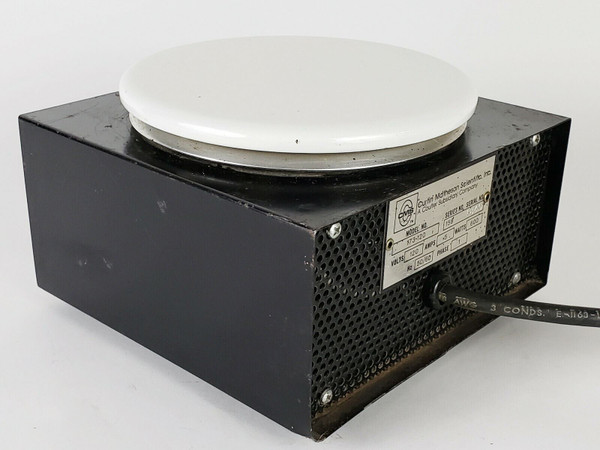 EQUATHERM Time Plate 173-120 Round Top Hot Plate 120V 600W 5A Curtin Matheson