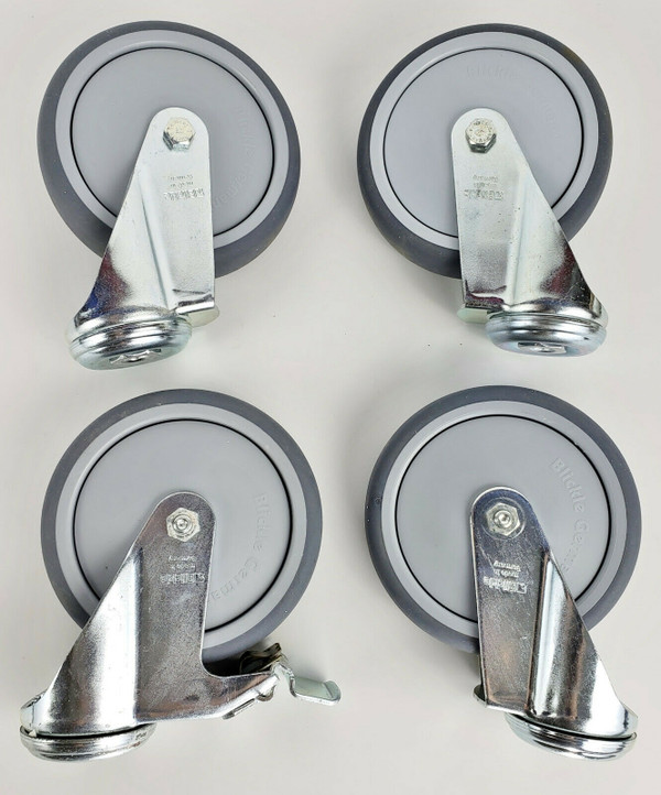 """BLICKLE 5"""" CASTER SET of 4 Swivel Double Ball Bearing Hi Quality PU NEW!"""