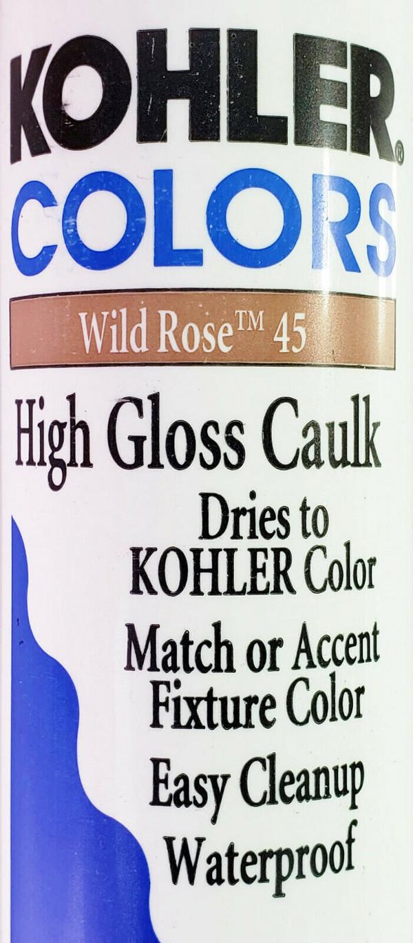 KOHLER COLORS CAULK Wild Rose 45 High Gloss, Matches Kohler Fixture Color RARE!