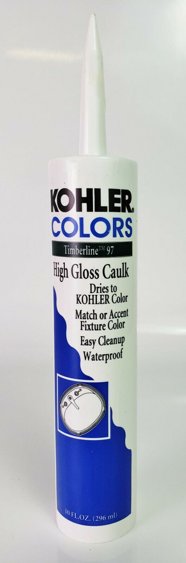 KOHLER COLORS CAULK Timberline 97 High Gloss Matches Kohler Fixture Color RARE!