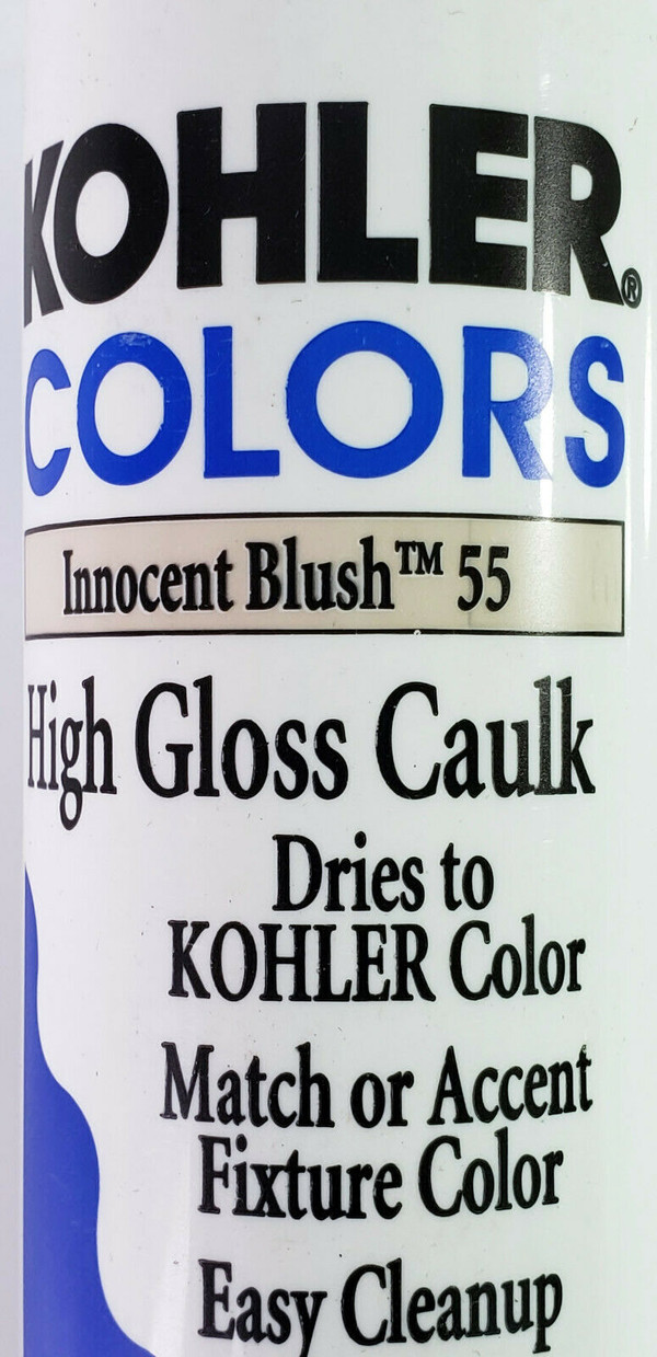 KOHLER COLORS CAULK Innocent Blush 55 High Gloss, Matches Kohler Fixture Color!