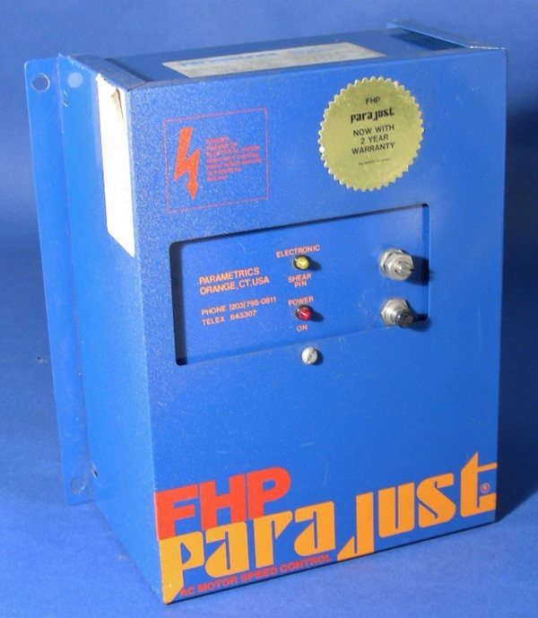 FHP Parametrics PARAJUST AC Motor Speed Control Model 6007 -  1PH INPUT 3PH OUT