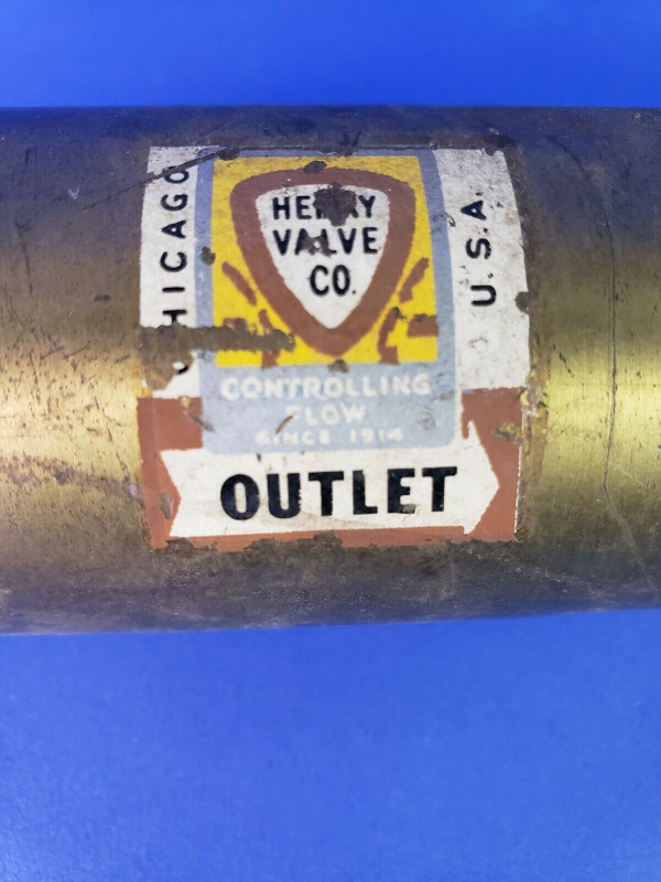 VINTAGE VALVE BY HENRY VALVE CO. - no. 7054 Steampunk, Industrial, Rustic Cool!