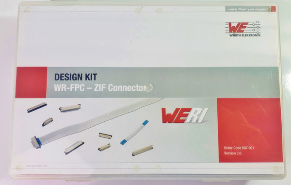 WURTH ELEKTRONIK DESIGN KIT WR-FPC-ZIF CONNECTORS 687001 v 3.0, Nearly Complete