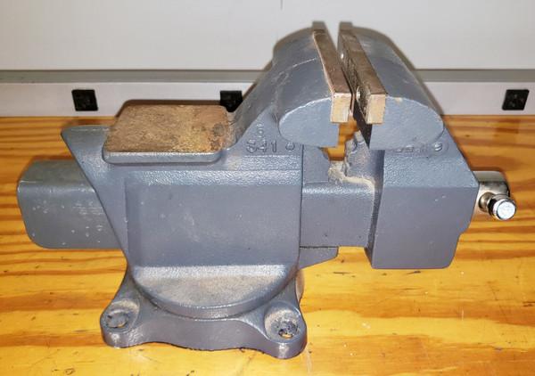 "VINTAGE CRAFTSMAN MACHINIST BENCH ANVIL VISE 4 1/2"" Jaws # 341 Made in USA Nice!"