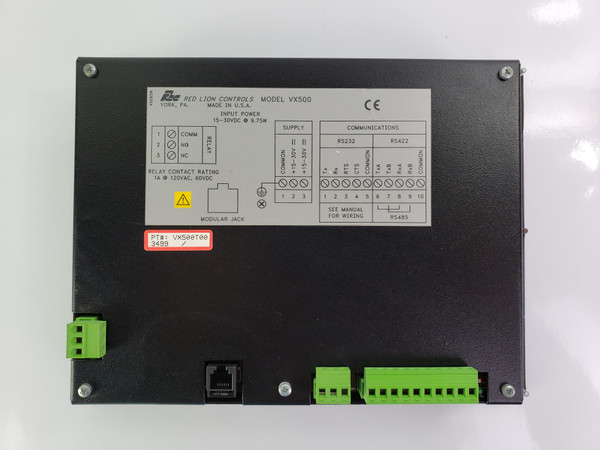 RED LION CONTROLS VX500T00 OPERATOR TERMINAL Inteface Terminal