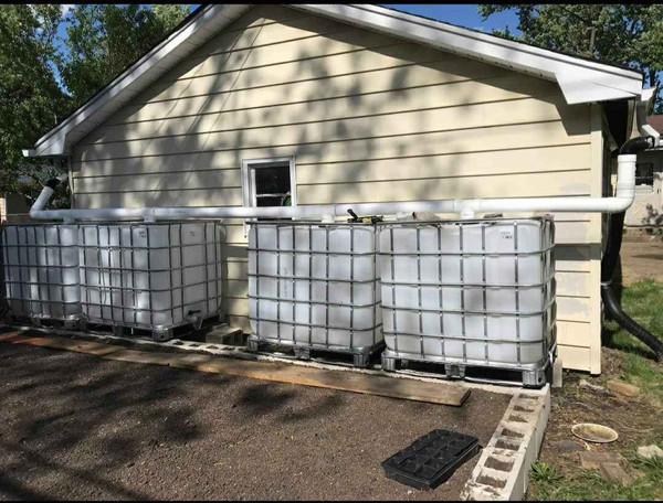 Customer installation for rain water collection