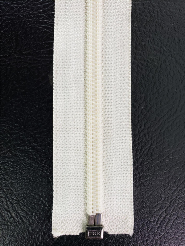 "YKK ZIPPER 22.5"" White Separating No.8 CFO-56 5/8E Jacket, Coat, New, Free Ship"