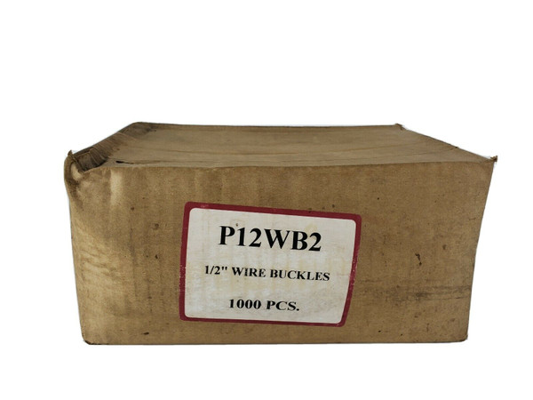 """P12WB2 Wire Buckles,1/2"""",PK1000 For Plastic Strapping, No Tools Needed, Easy!"""
