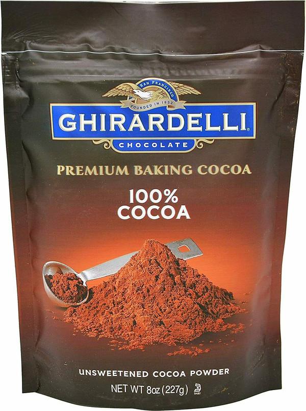 Ghirardelli Premium Baking 100% Cocoa Unsweetened Powder 8oz Pouch Free Shipping