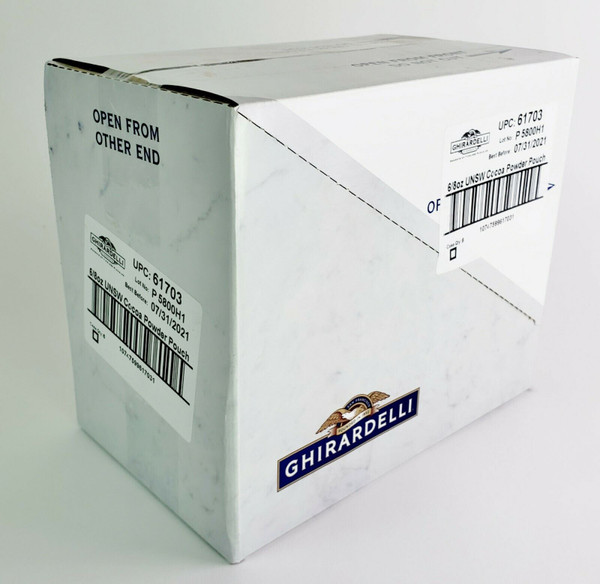 Ghirardelli-Unsweetened Cocoa Powder, Pack of 6 (8 oz boxes ) Free Shipping