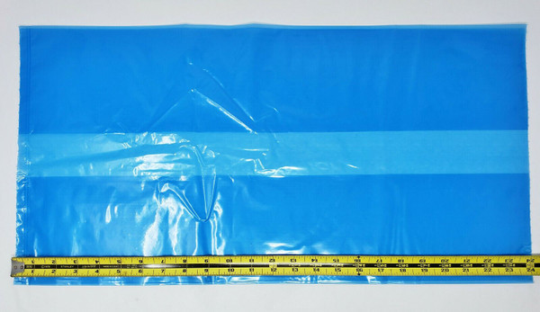 "BLUE POLY PLASTIC BAGS 12 X 10 X 24"" 1.5 Mil Gusseted 500 per Box 0.00150 NICE!"