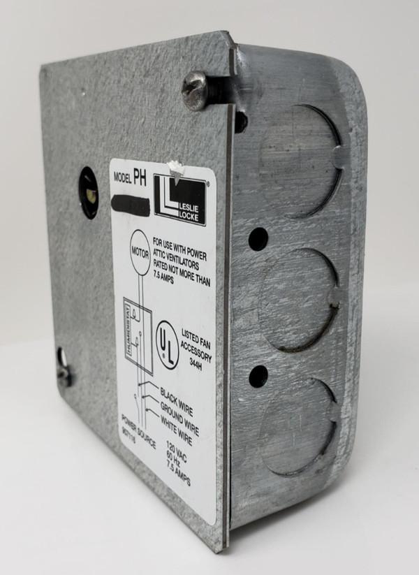 HUMIDISTAT Model PH Leslie Locke for Power Attic Ventilators, Hygrostat, New!