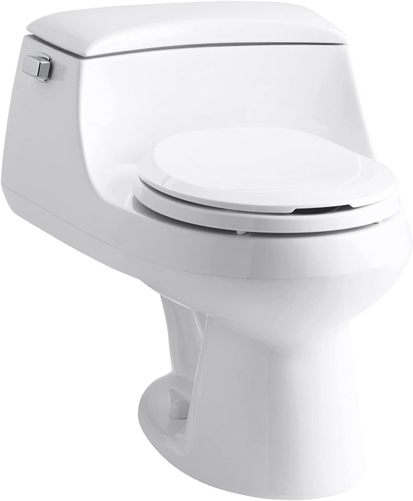 KOHLER K-3467-0 San Raphael® 1.28 gpf Elongated One Piece Toilet, Left-Hand Lever