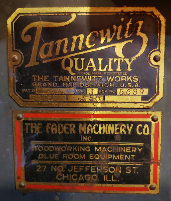 """VINTAGE TANNEWITZ WORKS TABLE SAW Type J-250, 48 x 60"""" Tilting Table, Cast Iron"""