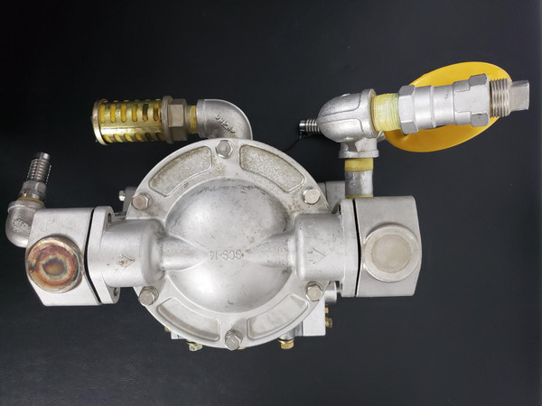 """YAMADA DIAPHRAM PUMP NDP-20BSV-D 3/4"""" NPT Air Operated SS Body, Exc Working Cond"""